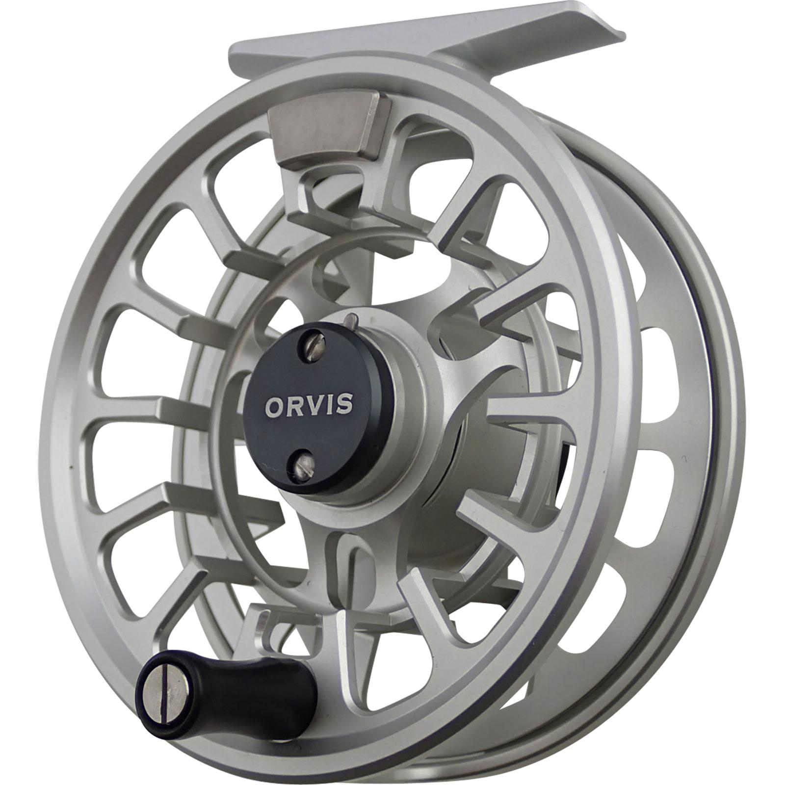 Orvis Hydros Fly Reel Silver Angled