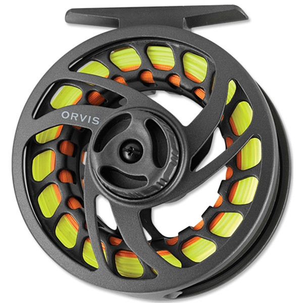 Orvis Clearwater Large Arbor Fly Reel - Frame Side with Line
