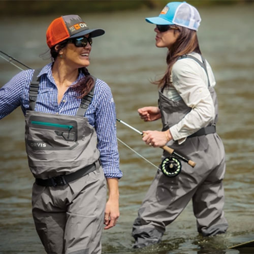 Orvis Women's Ultralight Convertible Stockingfoot Chest Waders In Use