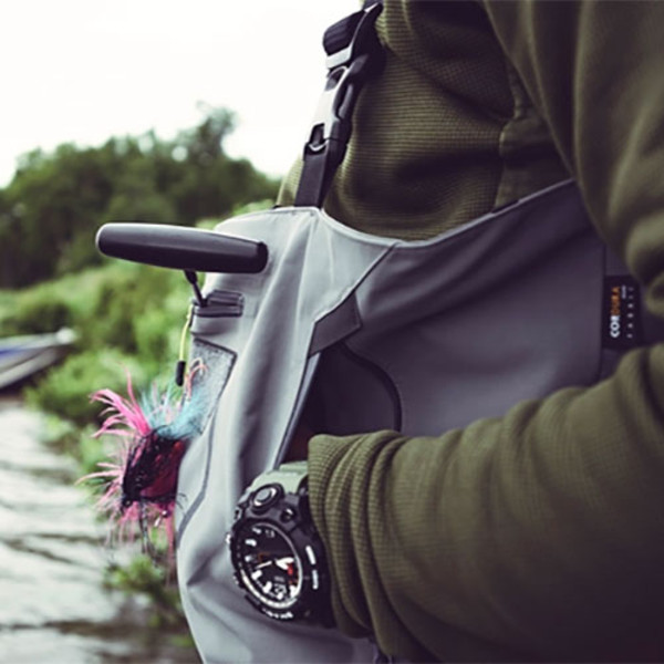 Orvis Men's PRO Stockingfoot Chest Waders In Use Close Up