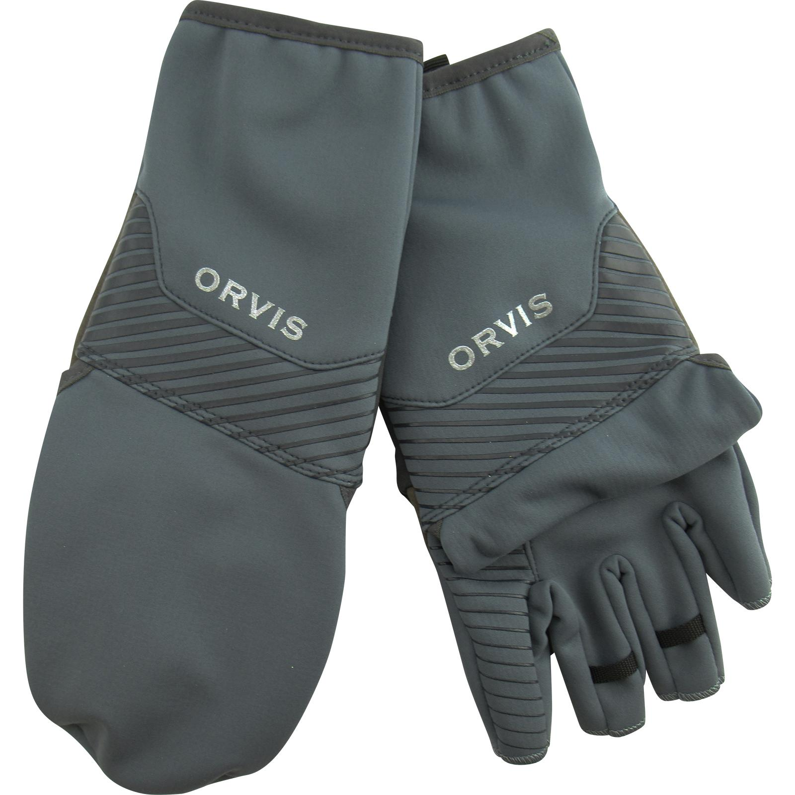 Orvis Men's Softshell Convertible Mitts Back