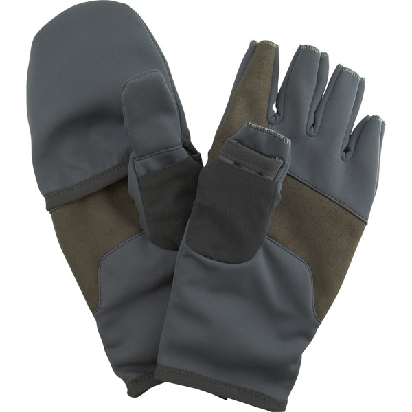 Orvis Men's Softshell Convertible Mitts Palms