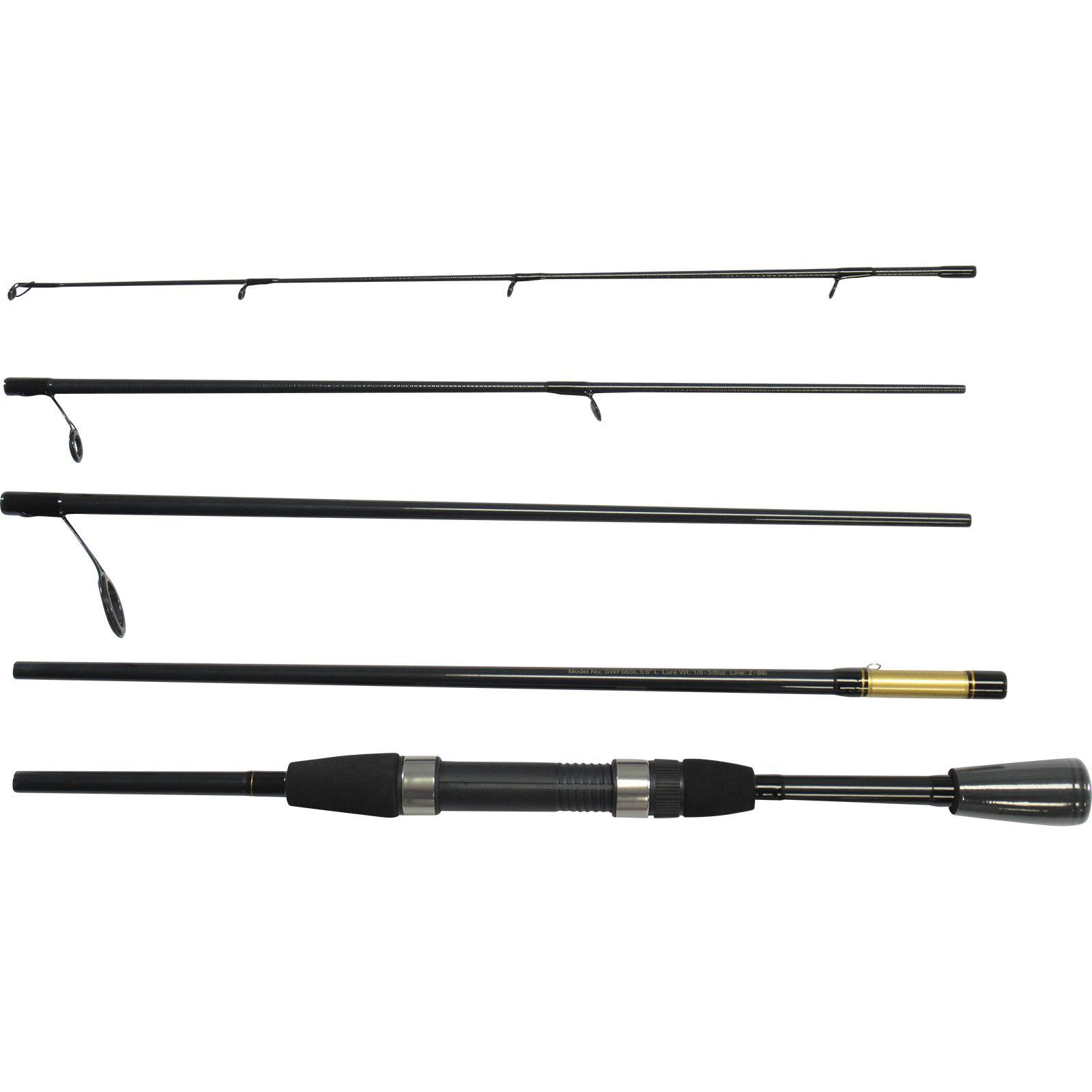 Daiwa Carbon Case Executive Pack Travel Spinning Combo Pieces