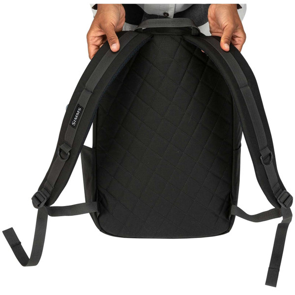 Back View Simms Dockwear Pack - Carbon