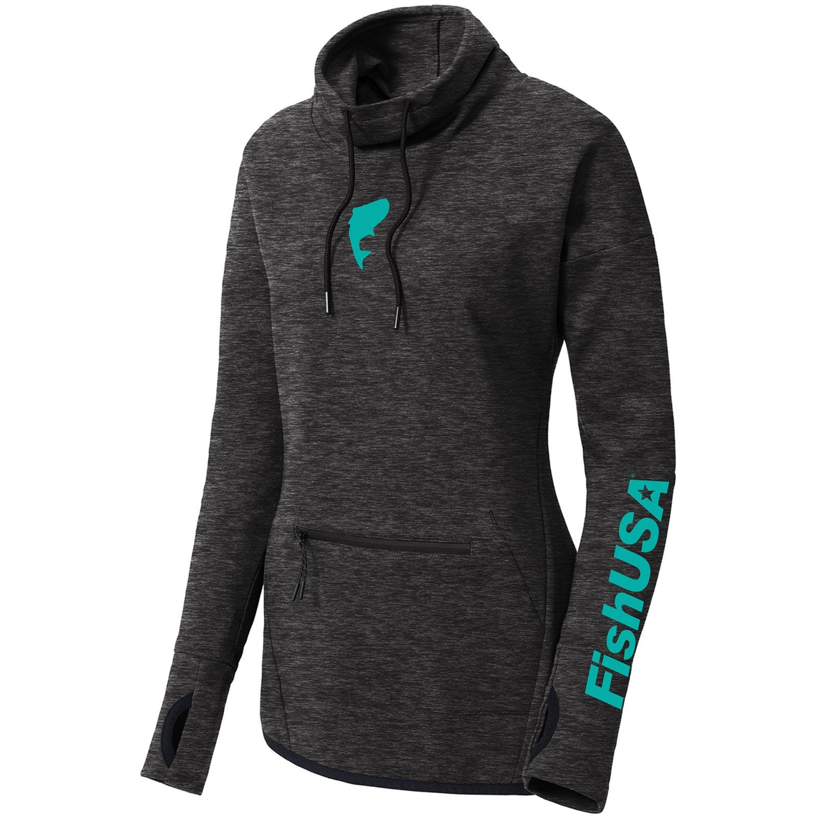 FishUSA Women's Cowl Neck Pullover