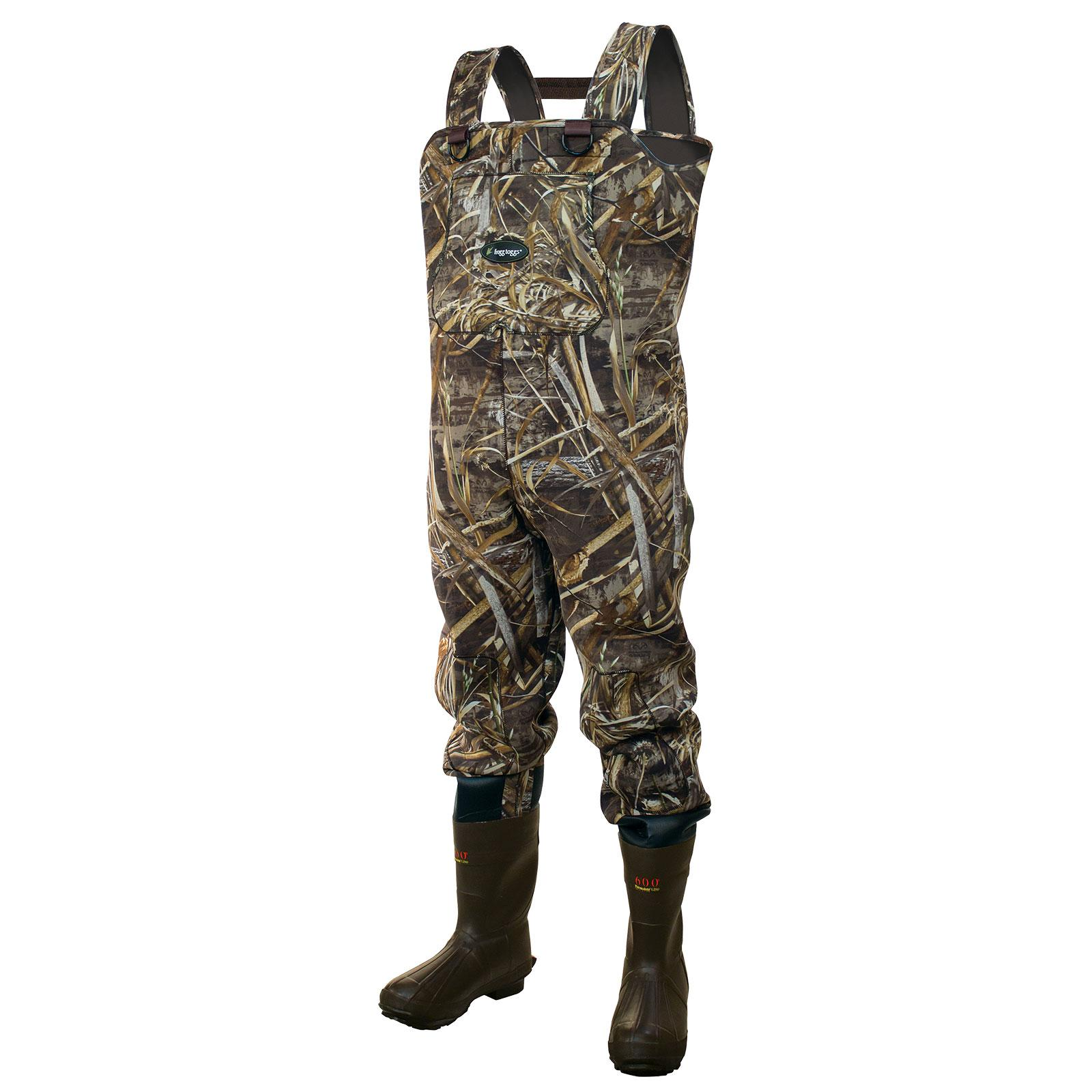 Frogg Toggs Men's Amphib Realtree Neoprene Bootfoot Chest Waders Timber; 8