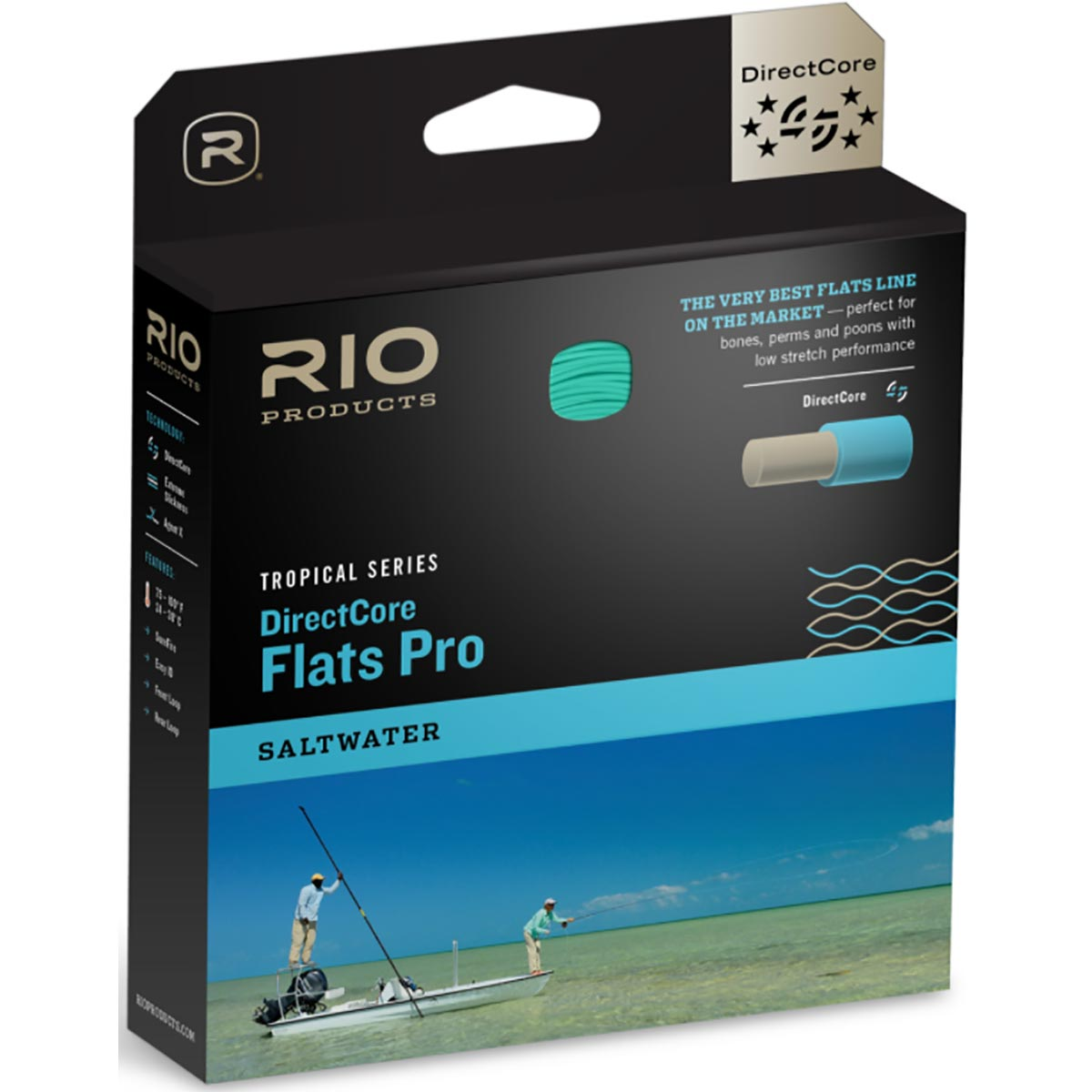 RIO Tropical Series DirectCore Flats Pro Clear Tip Fly Line