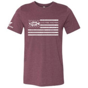 KBF Men's Live Free Short Sleeve T-Shirt Plum