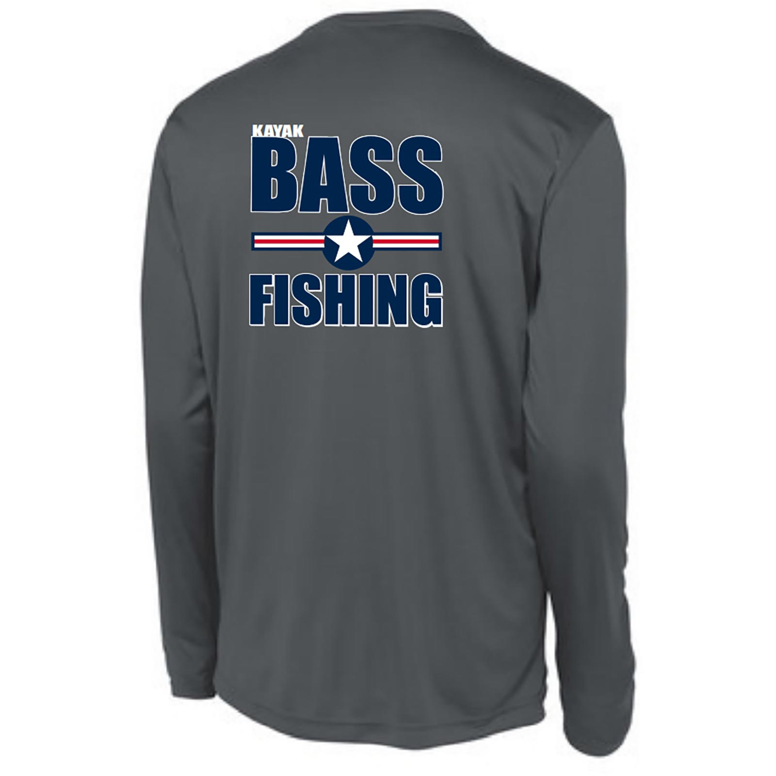 KBF FishUSA Men's Patriot Long Sleeve Performance Shirt Back