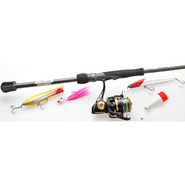 Cashion ICON Inshore Spinning Rod with lures