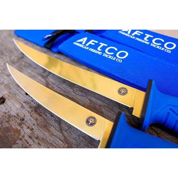 AFTCO x Boker Fishing Flex Fillet Knives With Sheaths